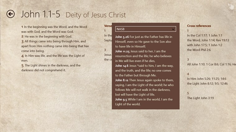 HeavenWord New Testament Studies Toolkit screen shot 2