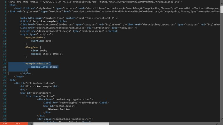 Code Writer screen shot 2