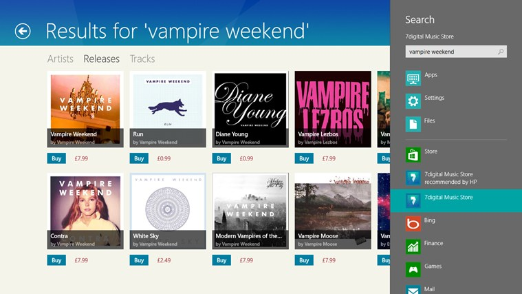 7digital Music Store screen shot 4
