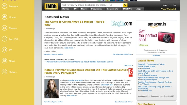 IMDb HD screen shot 4