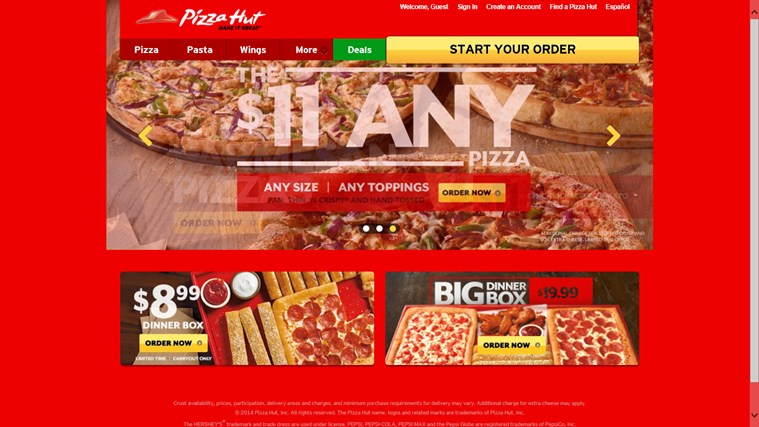 Pizza Hut screen shot 2