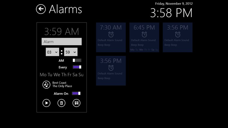Music Alarm Clock screen shot 2