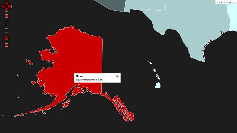 MapDat USA Unemployment captura de pantalla 2
