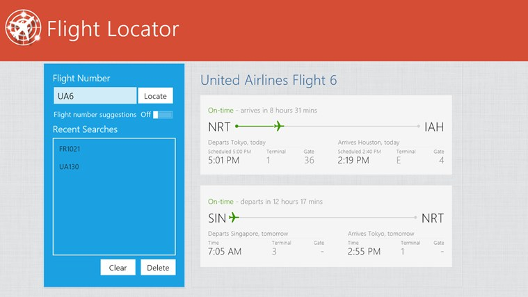 Flight Locator screen shot 2