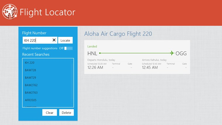 Flight Locator screen shot 4