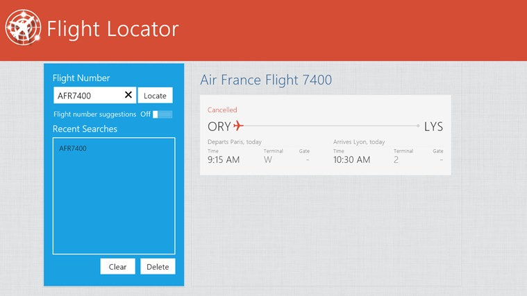 Flight Locator screen shot 6