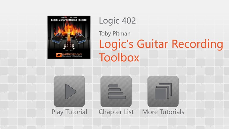 Logic 9: Guitar Recording Toolbox screen shot 0