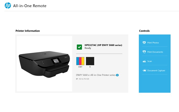 HP All-in-One Printer Remote screen shot 0