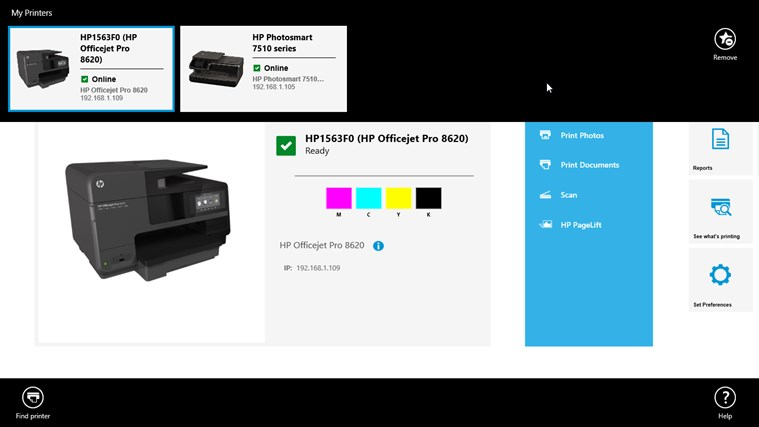 HP All-in-One Printer Remote screen shot 2