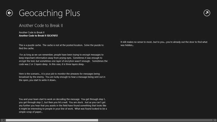 Geocaching Plus Beta screen shot 2
