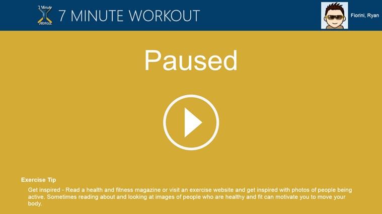 7 Minute Workout screen shot 2