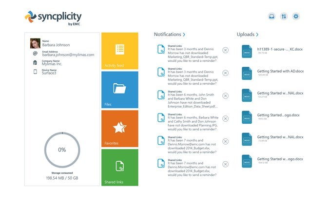 Syncplicity screen shot 0