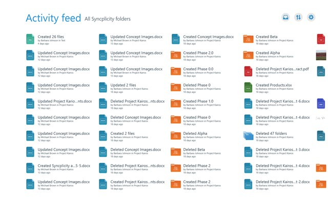 Syncplicity screen shot 4