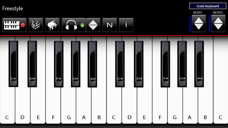 Full piano keyboard app android gratis