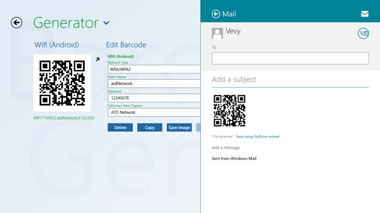 Barcode generator screen shot 4