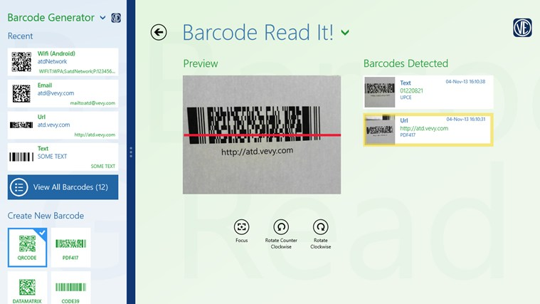 Barcode generator screen shot 6