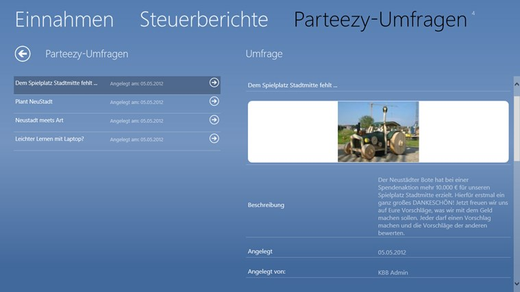 dashface kommunales Verwaltungssystem Screenshot 4