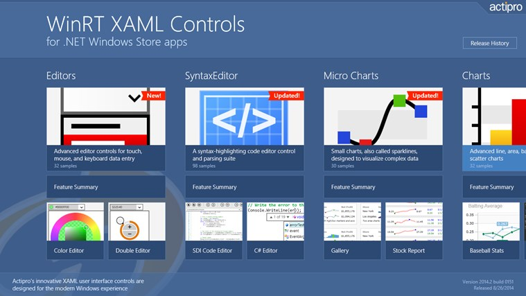 Actipro WinRT XAML Controls سکرین شاٹ 8