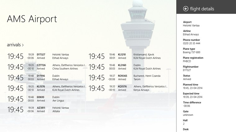 AMS Airport screen shot 2