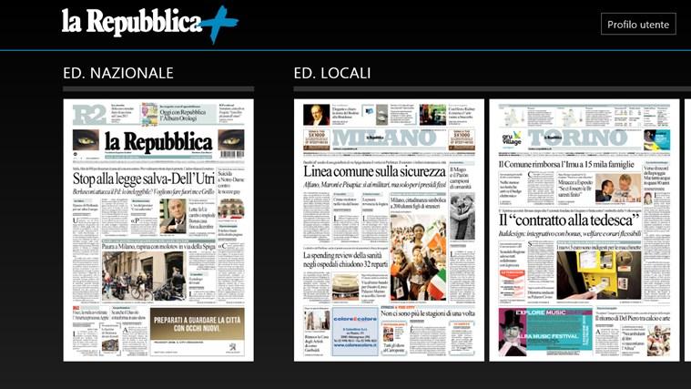 La Repubblica+ cattura di schermata 0