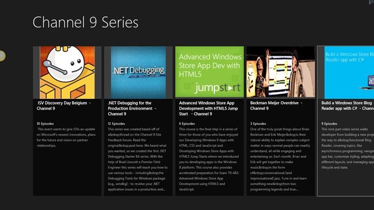 Channel 9 Series Viewer ਸਕ੍ਰੀਨ ਸ਼ੋਟ 0