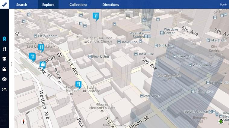 HERE Maps screen shot 4