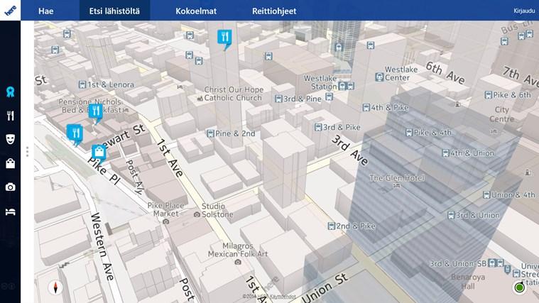 HERE Maps näyttökuva 4