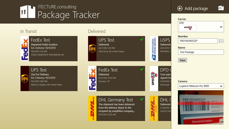 Package Tracker screen shot 4