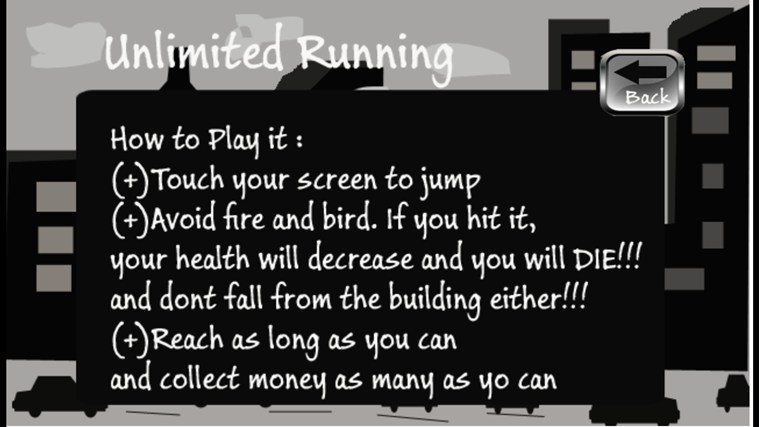 unlimited running screen shot 0