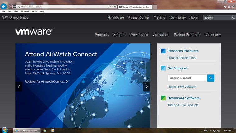 VMware Horizon screen shot 2