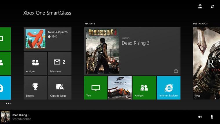 Xbox One SmartGlass captura de pantalla 0