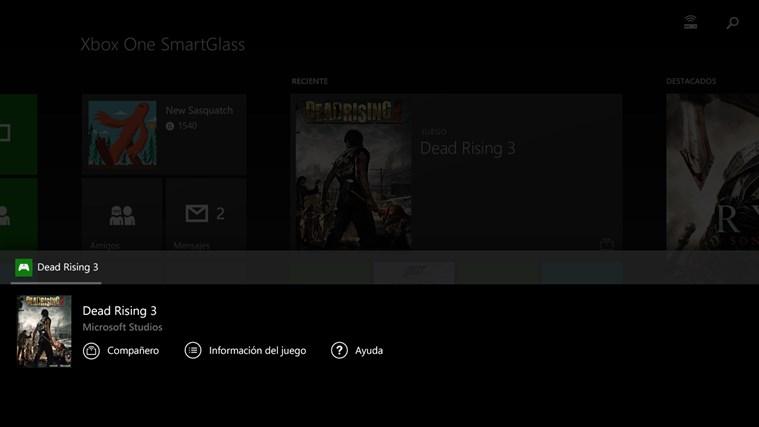 Xbox One SmartGlass captura de pantalla 2