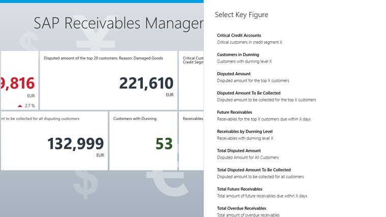 SAP Receivables Manager screen shot 2