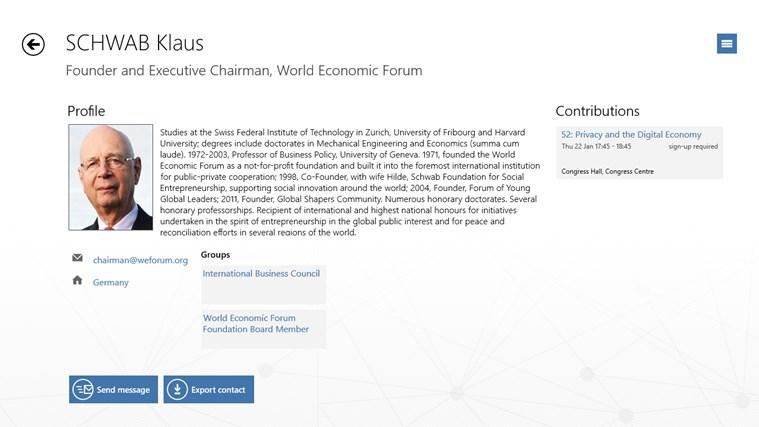World Economic Forum Toplink Events screen shot 4