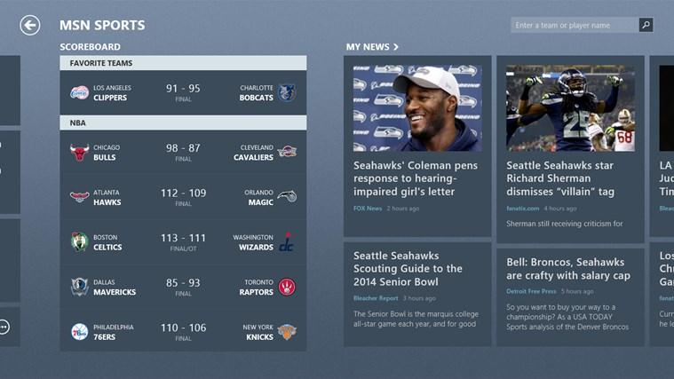 MSN Sports screen shot 2