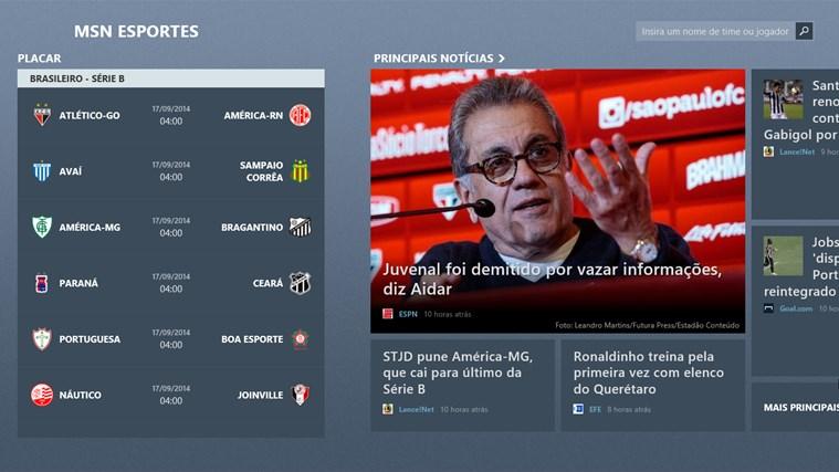 MSN Esportes captura de tela 2