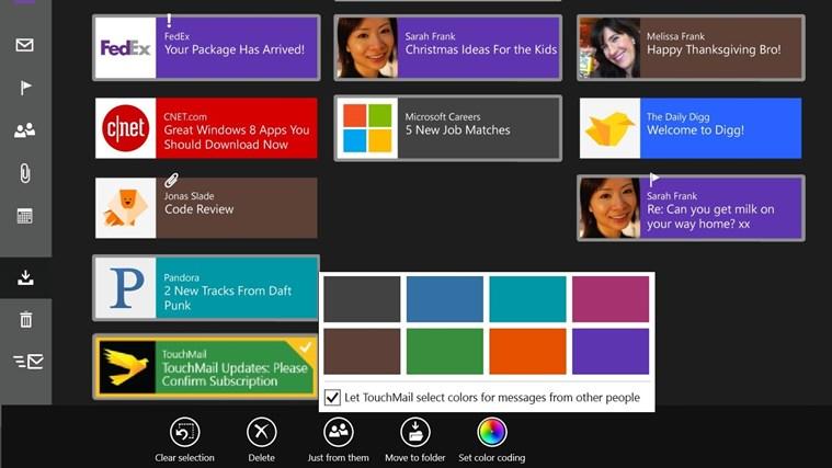 TouchMail captura de tela 6