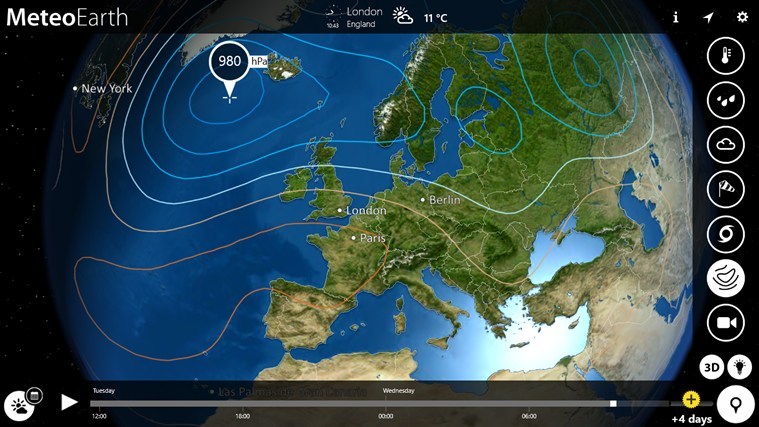 MeteoEarth screen shot 4