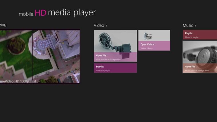 mobile.HD Media Player full screenshot