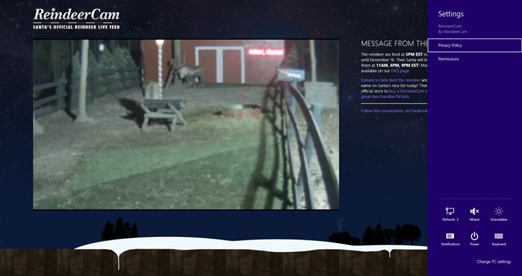 ReindeerCam screen shot 2